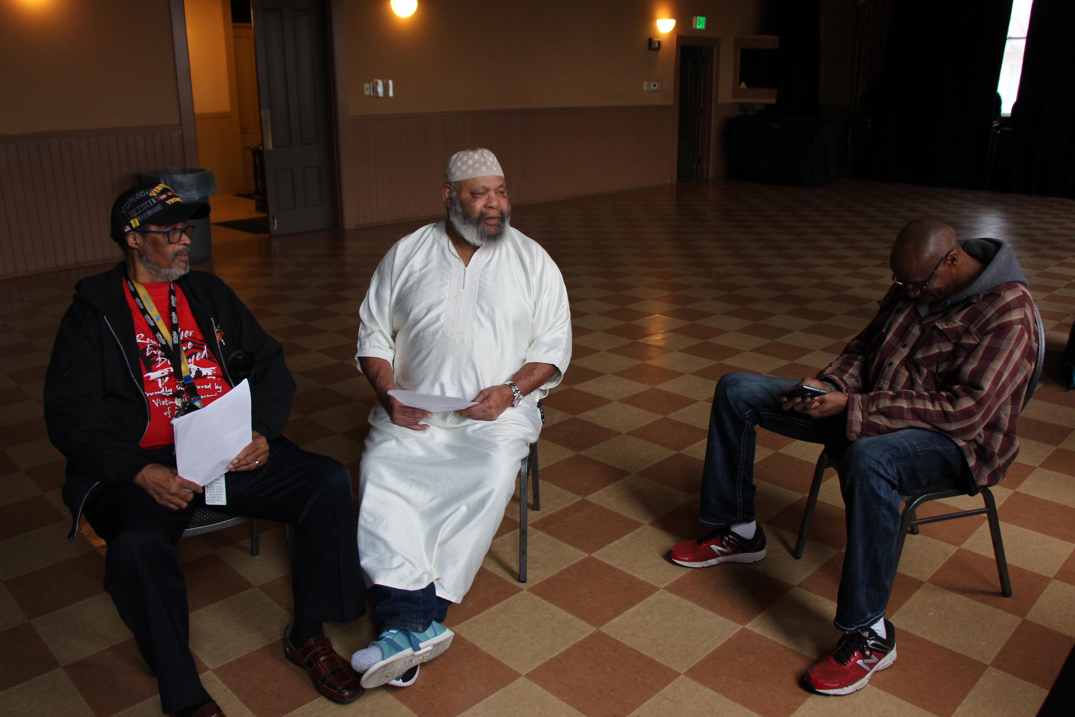 Kenny, Abu and Donald at rehearsal